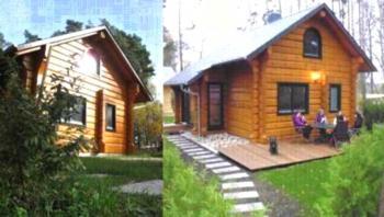 Ferienhäuser Amsel & Drossel, urgemütliche Blockbohlenhäuser, 6 Schlafzimmer, 4 Bäder, Kaminofen - mitten in der Natur - Ruhe und Erholung