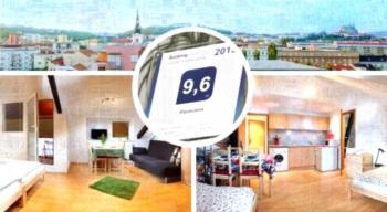 Panorama - Retro-Design Apartment mit Stadtblick
