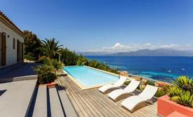Exklusive Villa in Campomoro-Bucht, Panoramapool, 2 Terrassen, Hotel-Service