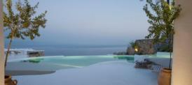 Minimalistische Luxusvilla, Jacuzzi, Infinitypool, Meerespanorama, Strandzugang