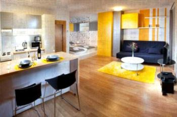 Orange & Yellow Apartments - Apartment mit 1 Schlafzimmer und Balkon