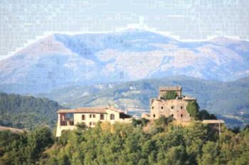 Agriturismo Monte Valentino - Studio mit Terrasse