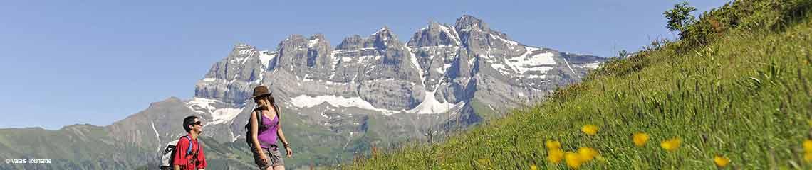 Les Crosets, Val d'Illiez (Portes du Soleil), Schweiz