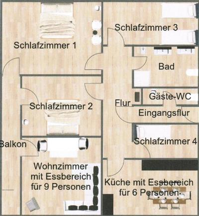 Ferienhaus 4 Sterne Ferienwohnung (130 m²) mit 4 Schlafzimmern Nähe Limburg-Rheingau-Taunus-Westerwal (1119510), Hünfelden, Taunus, Hessen, Deutschland, Bild 37