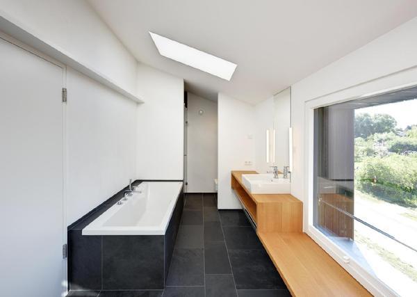 architektenhaus auf dem dar offener wohnbereich mit. Black Bedroom Furniture Sets. Home Design Ideas