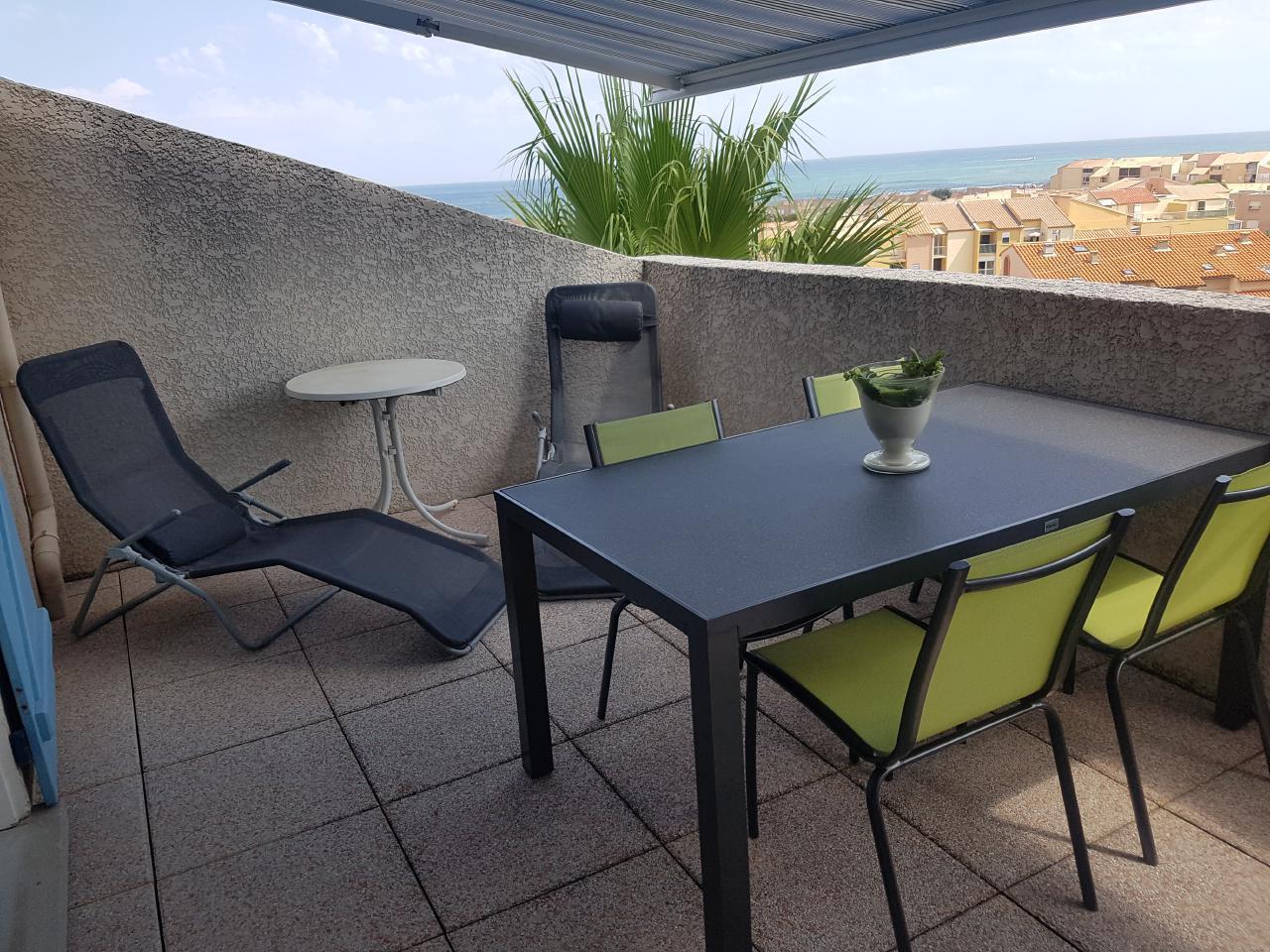 Ferienhaus Terrassenhaus Mer-Indigo mit Sonnenterrasse und 180 Grad traumhaftem Blick  über dem Meer (129969), Saint Pierre sur Mer, Mittelmeerküste Aude, Languedoc-Roussillon, Frankreich, Bild 23