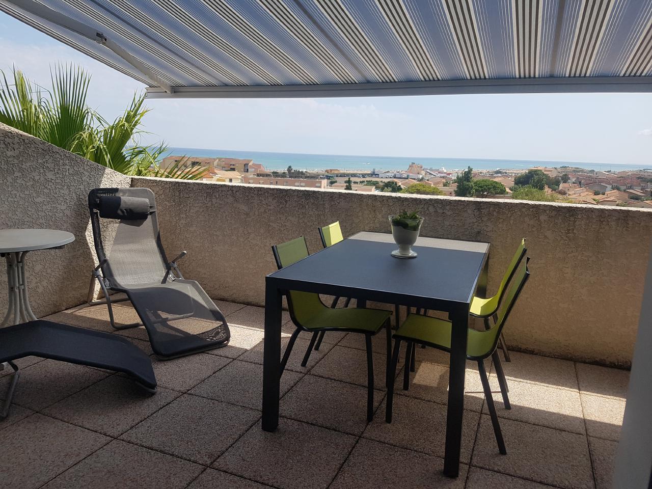 Ferienhaus Terrassenhaus Mer-Indigo mit Sonnenterrasse und 180 Grad traumhaftem Blick  über dem Meer (129969), Saint Pierre sur Mer, Mittelmeerküste Aude, Languedoc-Roussillon, Frankreich, Bild 24
