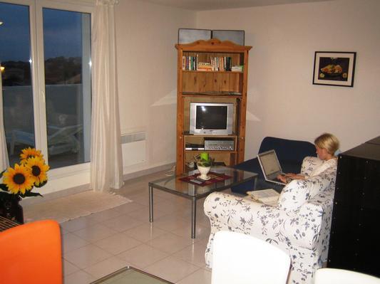 Ferienhaus Terrassenhaus Mer-Indigo mit Sonnenterrasse und 180 Grad traumhaftem Blick  über dem Meer (129969), Saint Pierre sur Mer, Mittelmeerküste Aude, Languedoc-Roussillon, Frankreich, Bild 2
