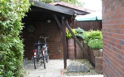 Carport - Fahrräder