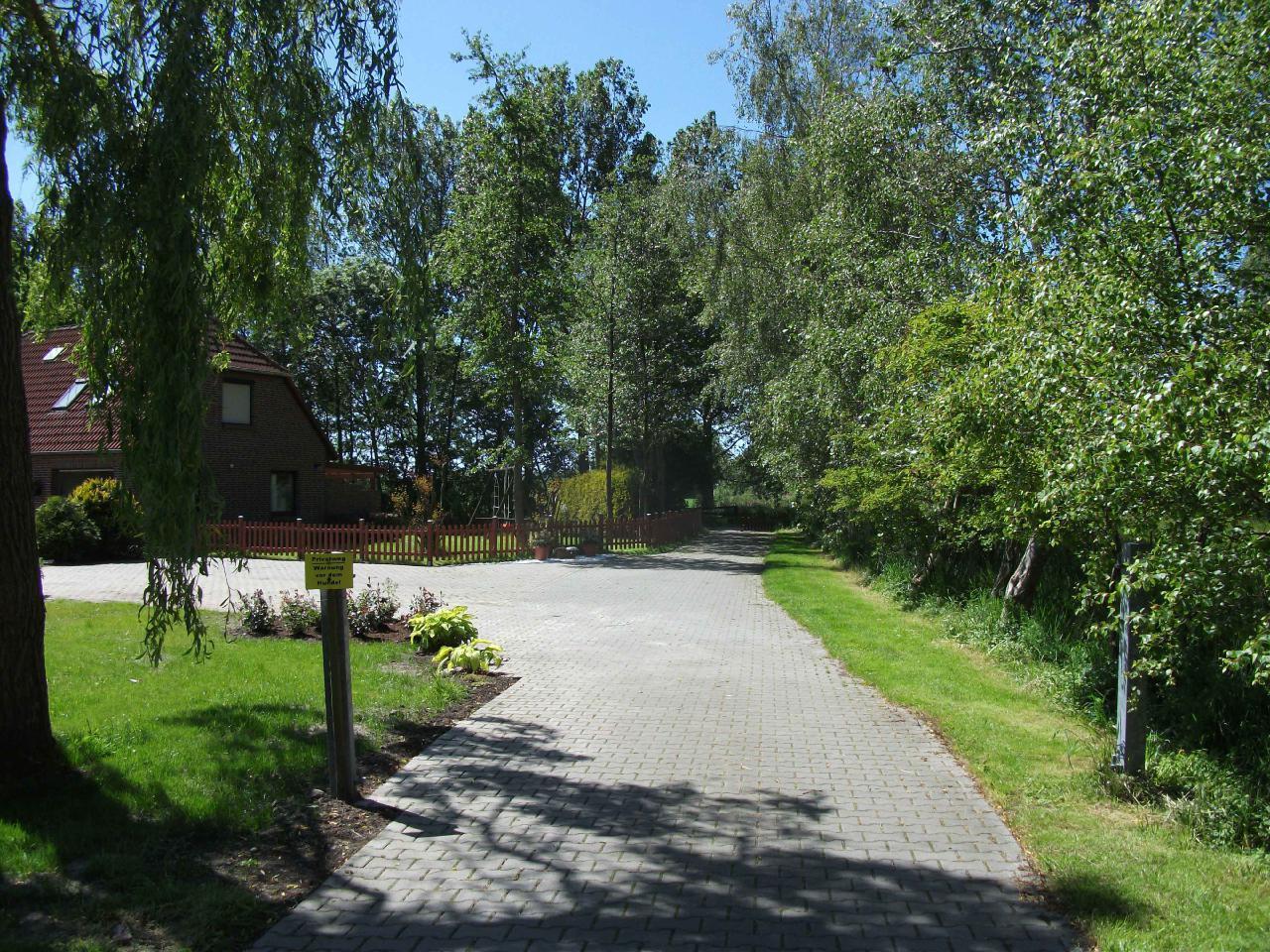 Der Privatweg zum Ferienhaus