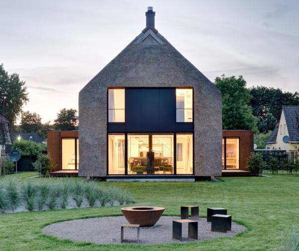 Gut Architektenhaus mit Sauna, Kamin, großem Garten mit unverbautem  WX89
