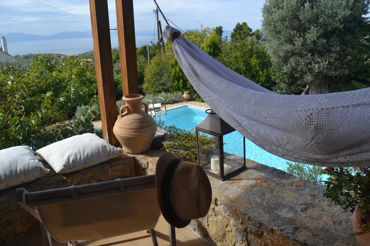 Ferienhaus Steinhaus auf Euböa mit privatem Pool, Wald & Meerblick (2179005), Nerotrivia, , Euböa, Griechenland, Bild 28