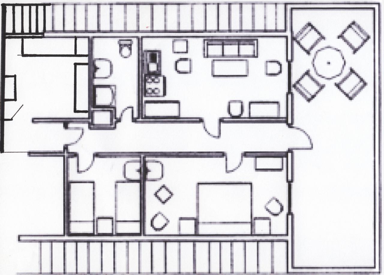 Grundriss - noch einfache Küche