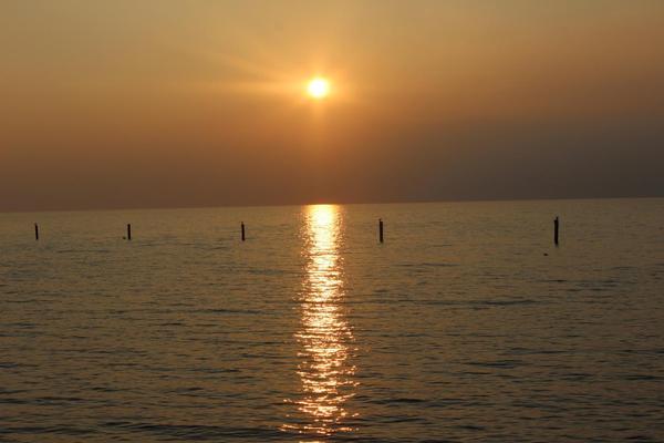 Sonnenuntergang auf Norddeich