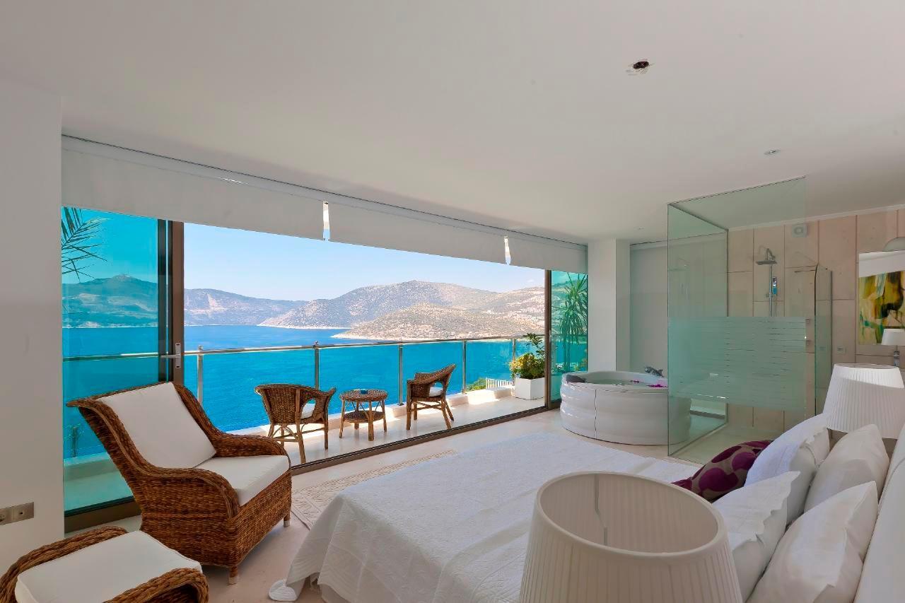 Maison de vacances Stilvolle, prämierte 5-Schlafzimmer-Villa mit traumhaftem Meerblick über die Kalkan-Bucht (2473910), Kalkan, , Région Méditerranéenne, Turquie, image 9