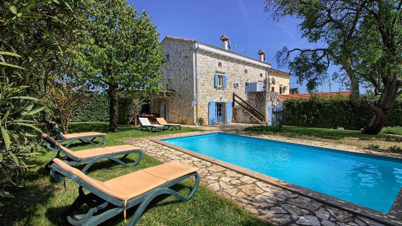 Istrian Stein Villa mit Pool, max 10 + 2 Gäst Villa in Kroatien