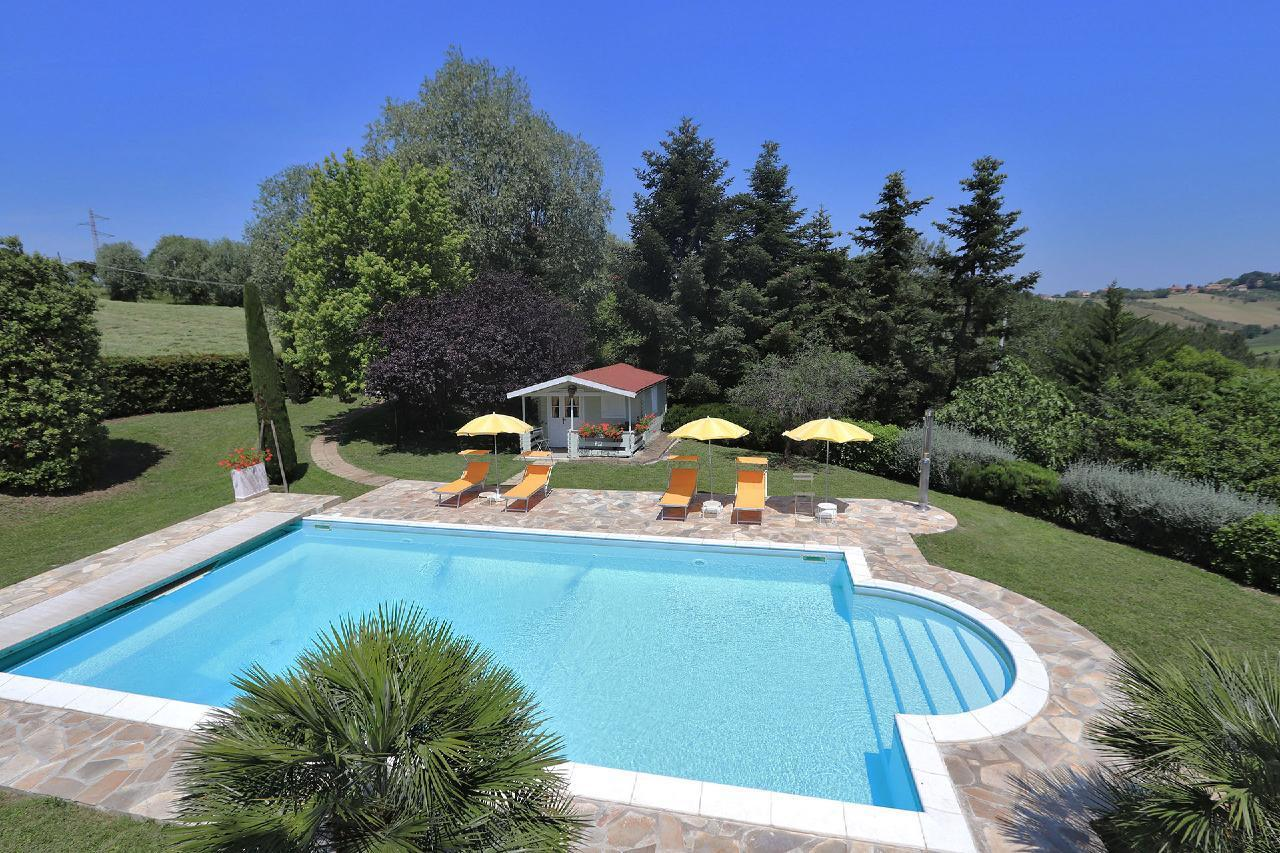 Ferienhaus Private Villa mit Pool, 9 Schlafplätze, 3 Schlafzimmer, WLAN, Klimaanlage, Panoramablick (2575332), Corinaldo, Ancona, Marken, Italien, Bild 9