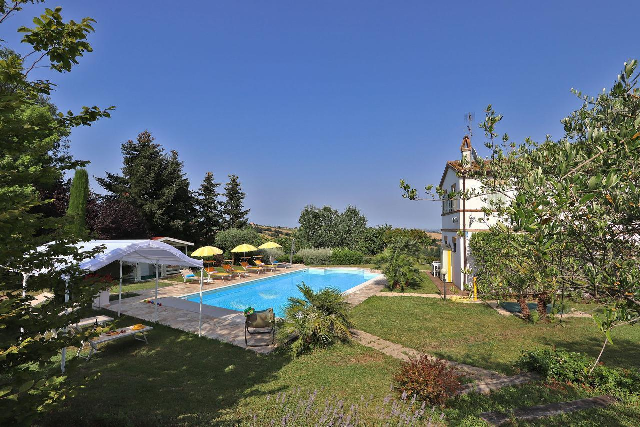 Ferienhaus Private Villa mit Pool, 9 Schlafplätze, 3 Schlafzimmer, WLAN, Klimaanlage, Panoramablick (2575332), Corinaldo, Ancona, Marken, Italien, Bild 5