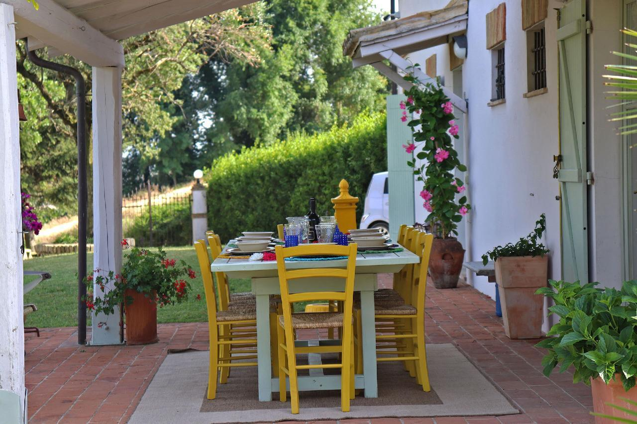 Ferienhaus Private Villa mit Pool, 9 Schlafplätze, 3 Schlafzimmer, WLAN, Klimaanlage, Panoramablick (2575332), Corinaldo, Ancona, Marken, Italien, Bild 11