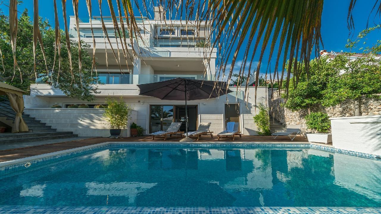 Ferienhaus Luxuriöse Strandvilla Marija in der Nähe von Trogir (2790031), Seget Vranjica, , Dalmatien, Kroatien, Bild 5