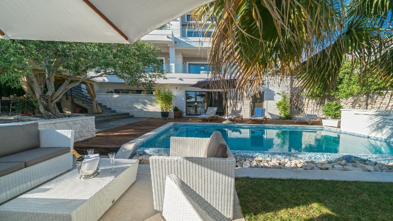 Ferienhaus Luxuriöse Strandvilla Marija in der Nähe von Trogir (2790031), Seget Vranjica, , Dalmatien, Kroatien, Bild 4