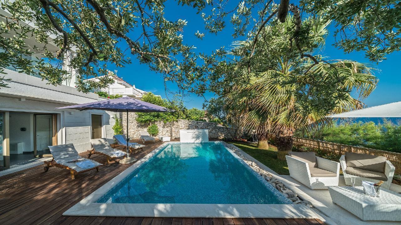 Ferienhaus Luxuriöse Strandvilla Marija in der Nähe von Trogir (2790031), Seget Vranjica, , Dalmatien, Kroatien, Bild 25