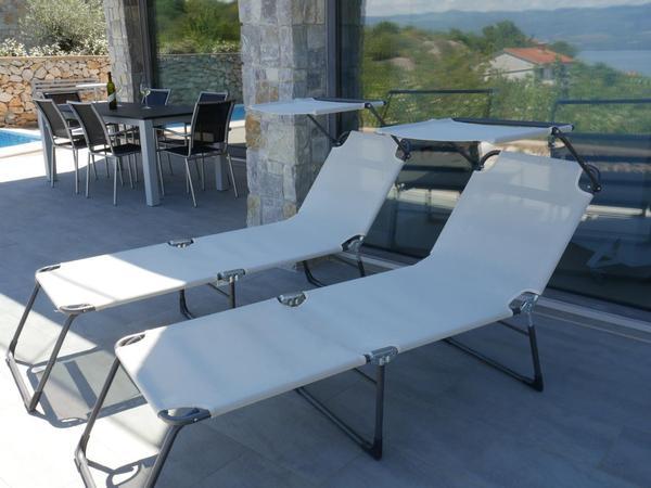Maison de vacances Villa Paradise mit Pool und teilweise Meerblick (2819866), Vrbnik, Île de Krk, Kvarner, Croatie, image 7