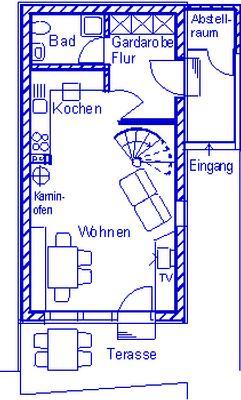 Ferienhaus am Kellerberg - mit  grossen Garten und herrlicher Aussicht, Kaminofen, Haustiere willkomm (337961), Zandt, Bayerischer Wald, Bayern, Deutschland, Bild 4