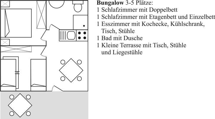 Ferienwohnung Bungalow Standard 3-5 Plätze (407319), Massa Lubrense, Amalfiküste, Kampanien, Italien, Bild 13