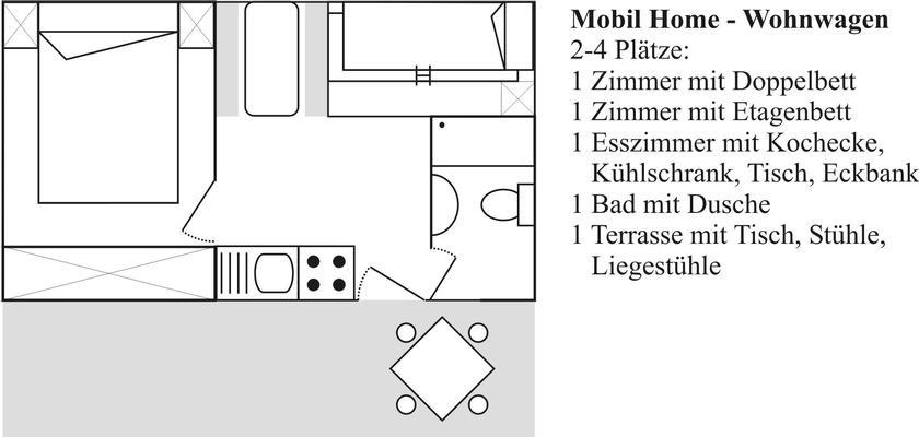 Ferienhaus Wohnwagen 2-4 Plätze (430050), Massa Lubrense, Amalfiküste, Kampanien, Italien, Bild 12