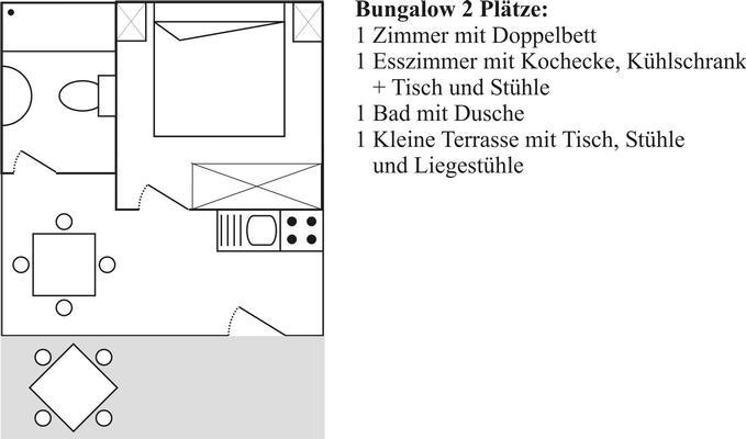 Ferienwohnung Bungalow  Standard 2 Plätze (430221), Massa Lubrense, Amalfiküste, Kampanien, Italien, Bild 15