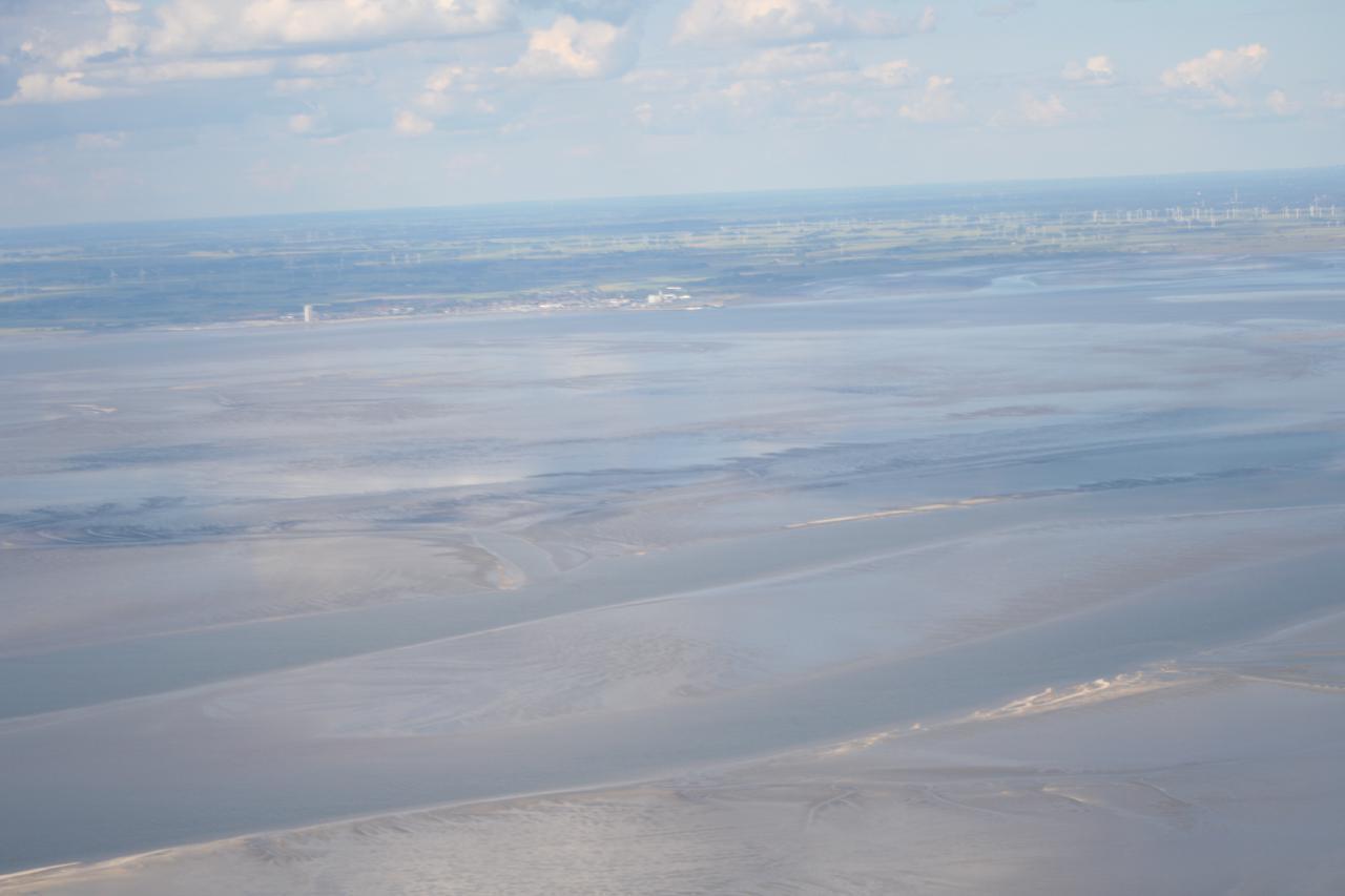 Weltnaturerbe Wattenmeer mit Blick nach Büsum