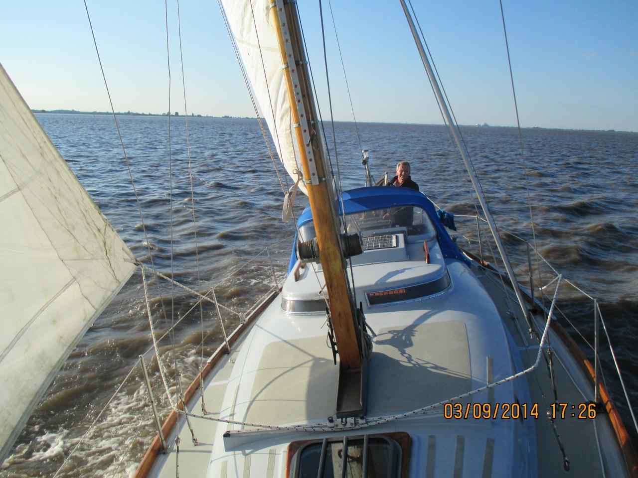 Selbst im September kann ein Segeltörn auf der Elbe noch schön sein-Törn nach Cuxhaven mit meiner