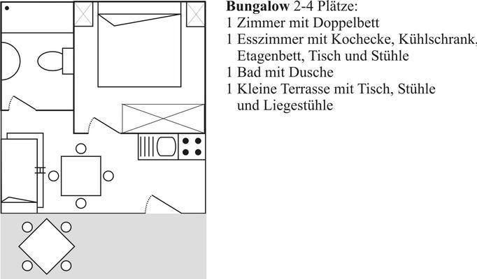 Ferienwohnung Bungalow  Standard 3-4 Plätze (612514), Massa Lubrense, Amalfiküste, Kampanien, Italien, Bild 12