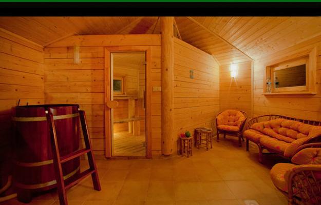 blockhaus mit sauna und japanische bad pommersche seenplatte westpommern. Black Bedroom Furniture Sets. Home Design Ideas