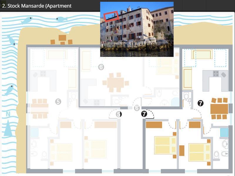 Appartement de vacances FEWO-7 in ROVINJ direkt am Meer (96167), Rovinj, , Istrie, Croatie, image 18