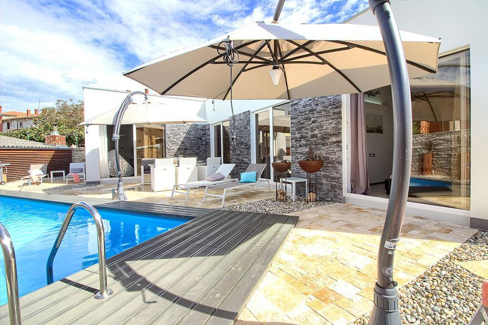 Ferienhaus Luxus Villa Darte mit beheiztem Pool (971395), Kanfanar, , Istrien, Kroatien, Bild 8
