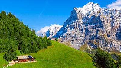 Alpine huts in Switzerland