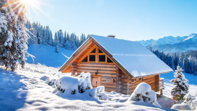 Ski chalets in Switzerland or Austria and other countries