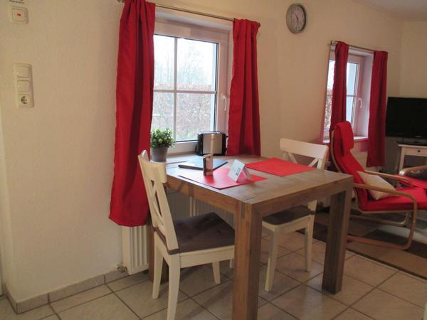Wangerland Appartement Haio mit Terrasse Urlaub für Zwei Haustier willkommen