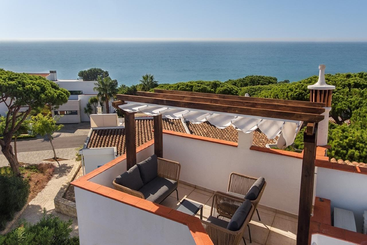 Vale do Lobo Luxusvilla mit Meerblick, direkt am Strand - Golf, Tennis, Praça