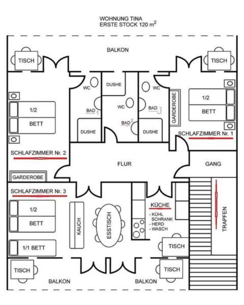Appartement de vacances TINA bis 8 Personen. (317411), Rab (Stadt), Île de Rab, Kvarner, Croatie, image 7